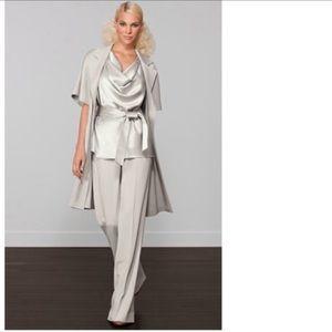 St. John Gray Wool Trouser Dress Pants
